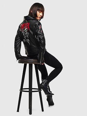 CL-L-LYFA-BIGM, Black - Leather jackets