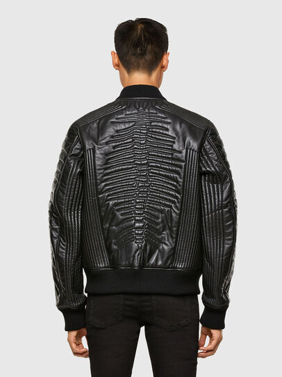 Diesel - L-FUTURE, Black - Leather jackets - Image 2