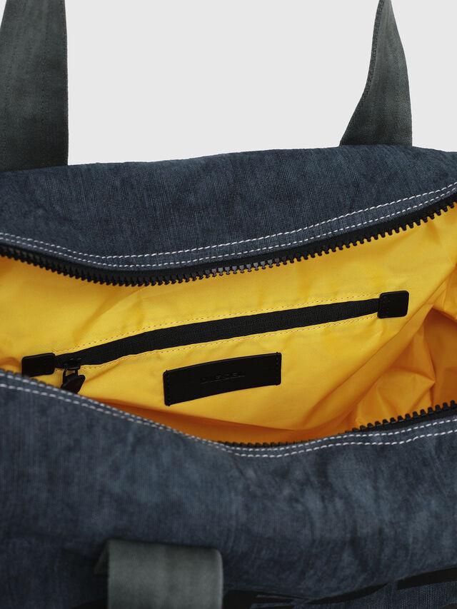 Diesel - D-THISBAG TRAVEL BAG, Blue Jeans - Travel Bags - Image 4