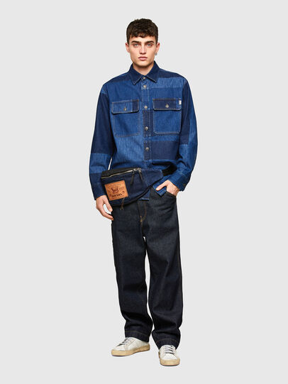 Diesel - D-HORUS, Blue - Denim Shirts - Image 5