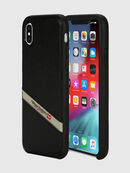 DIESEL LEATHER CO-MOLD CASE FOR IPHONE XS MAX, Black - Cases