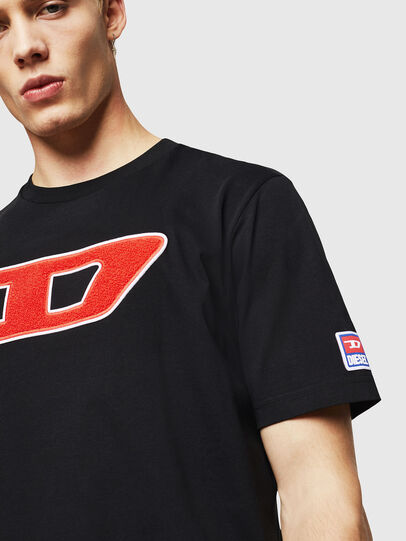 Diesel - T-JUST-DIVISION-D, Black - T-Shirts - Image 3