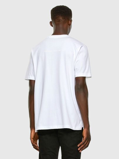 Diesel - T-JUST-SLITS-X83, White - T-Shirts - Image 6