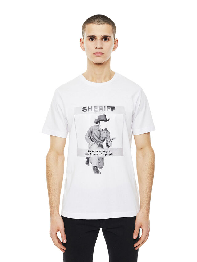 Diesel - TY-BIGSHERIFF, White - T-Shirts - Image 1