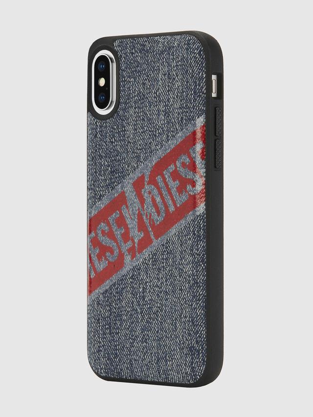 Diesel - VINTAGE DENIM IPHONE X CASE, Blue Jeans - Cases - Image 5