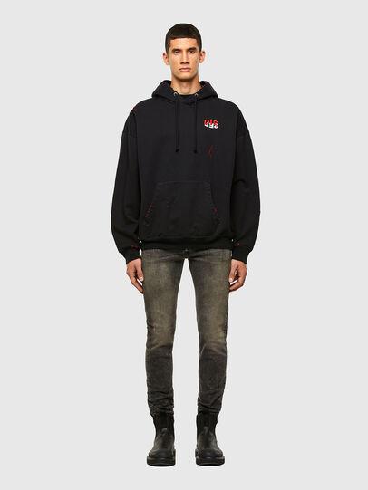 Diesel - Sleenker 009IS, Black/Dark grey - Jeans - Image 4