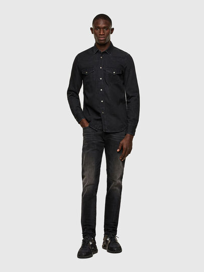 Diesel - D-EAST-P1, Black - Denim Shirts - Image 4