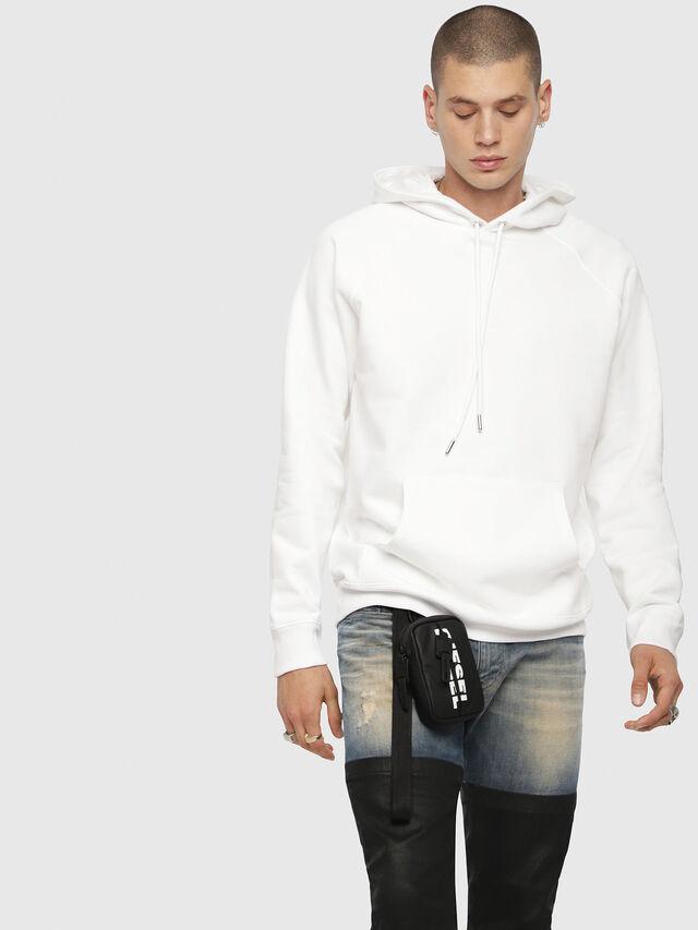 Diesel - S-GIM-HOOD-A, White - Sweaters - Image 1