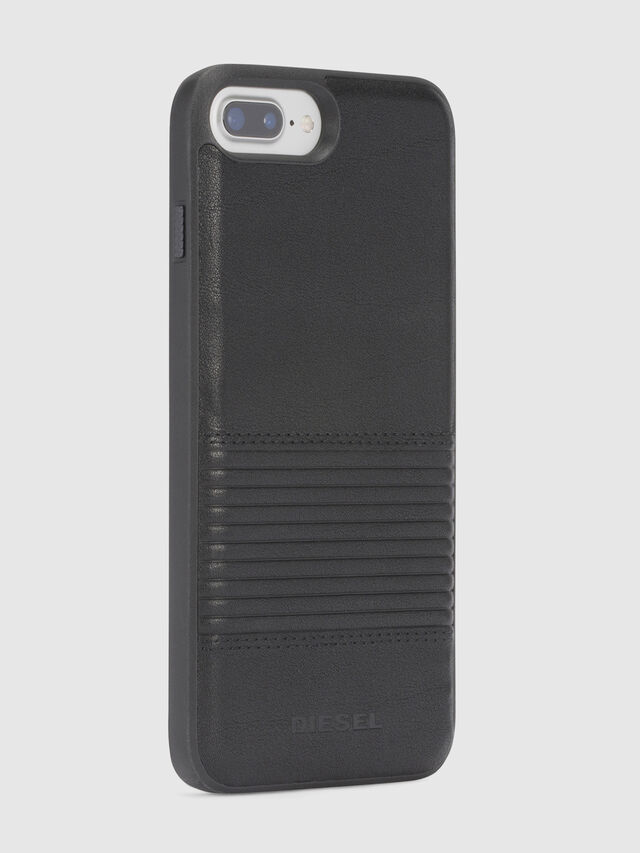 Diesel BLACK LINED LEATHER IPHONE 8/7/6s/6 CASE, Black - Cases - Image 5