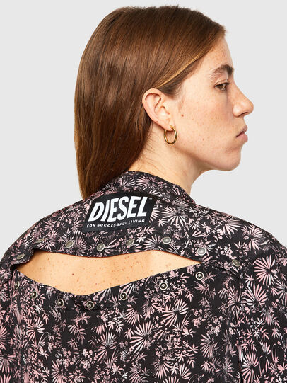 Diesel - D-SUPER-H-LONG, Black/Violet - Dresses - Image 3