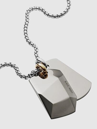 Diesel - DX1143, Silver - Necklaces - Image 2