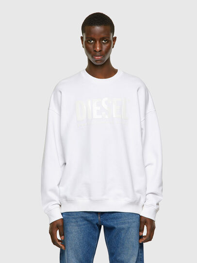 Diesel - S-MART-INLOGO, White - Sweaters - Image 1
