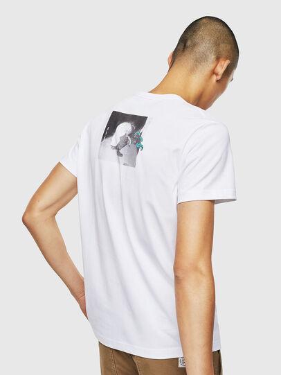 Diesel - T-DIEGO-J20, White - T-Shirts - Image 3