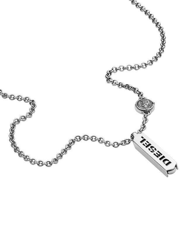 Diesel - NECKLACE DX0997, Silver - Necklaces - Image 2