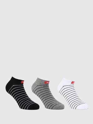 SKM-GOST-THREEPACK, Black/White - Socks