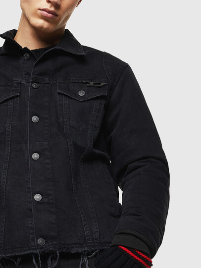 Diesel - D-BLIT, Black/Dark grey - Denim Jackets - Image 3