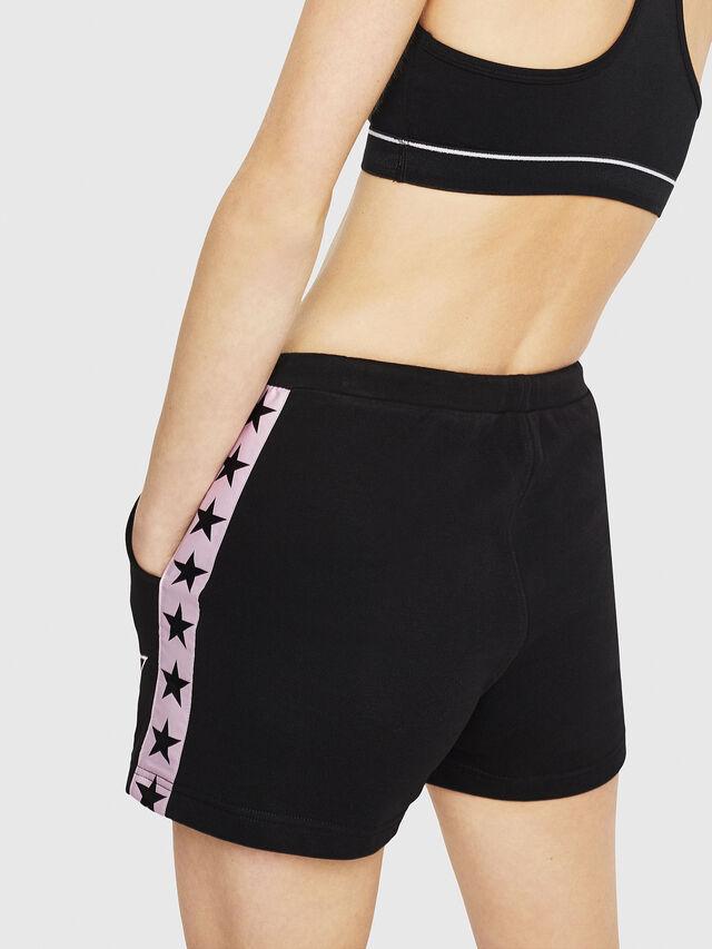 Diesel - UFLB-MARIN-SH, Black/Pink - Pants - Image 2