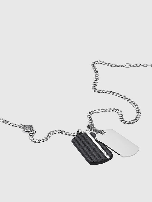 Diesel - NECKLACE DX1040, Silver - Necklaces - Image 2