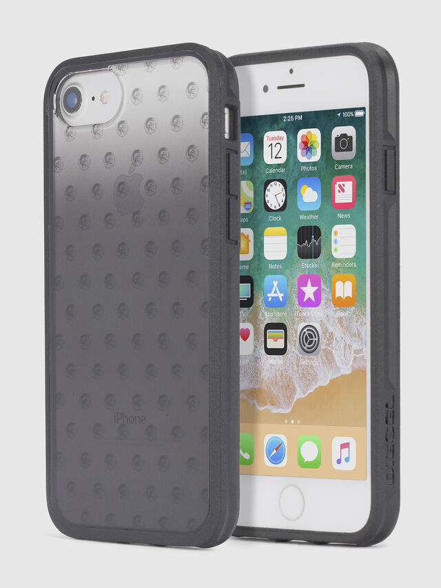 Diesel MOHICAN HEAD DOTS BLACK IPHONE 8/7/6s/6 CASE, Black - Cases - Image 1