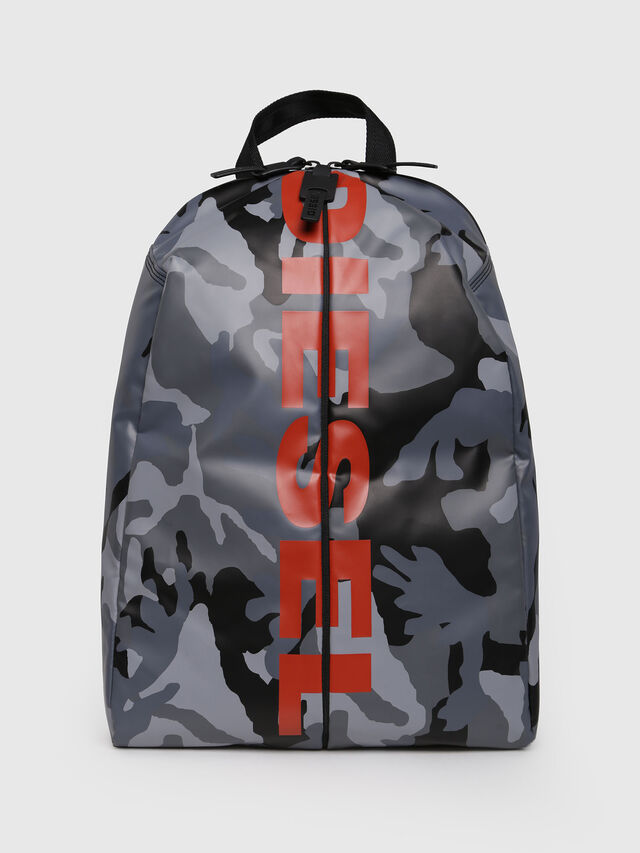 Diesel - F-BOLD BACK, Grey Melange - Backpacks - Image 1