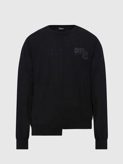 Diesel - K-HUGH, Black - Knitwear - Image 1