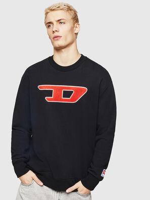 S-CREW-DIVISION-D, Black - Sweaters