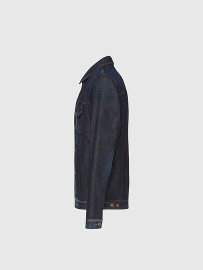 Diesel - NHILL-TW, Dark Blue - Denim Jackets - Image 3