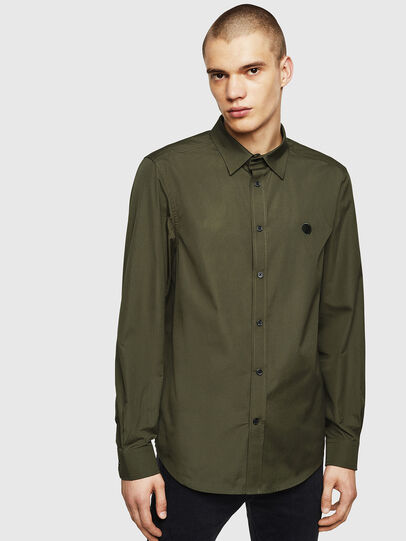 Diesel - S-BILL, Dark Green - Shirts - Image 1