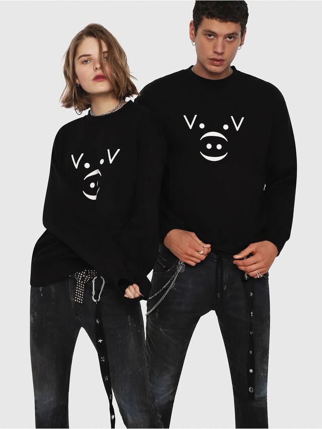 Diesel - CL-SNOR, Black - Sweaters - Image 6