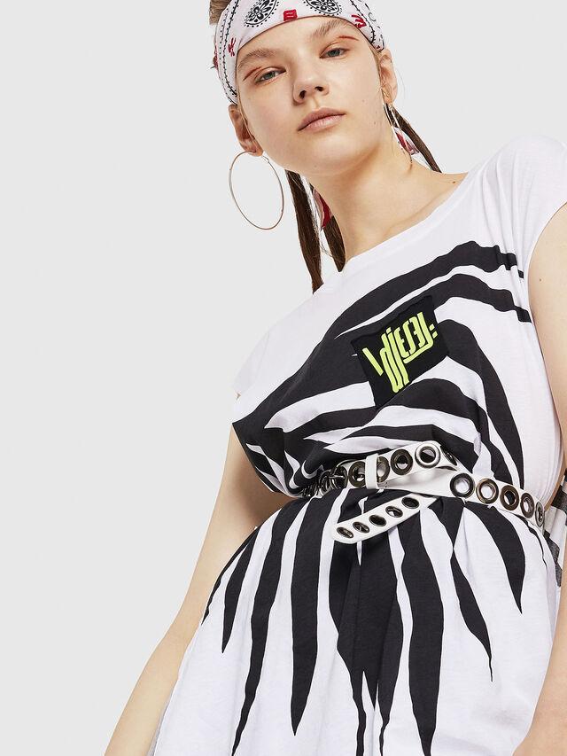 Diesel - T-DESY-B, White/Black - T-Shirts - Image 3