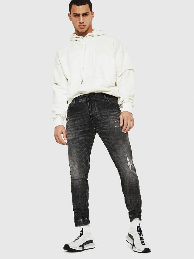 Diesel - Dvl-Krooley JoggJeans 0077S, Black/Dark grey - Jeans - Image 5