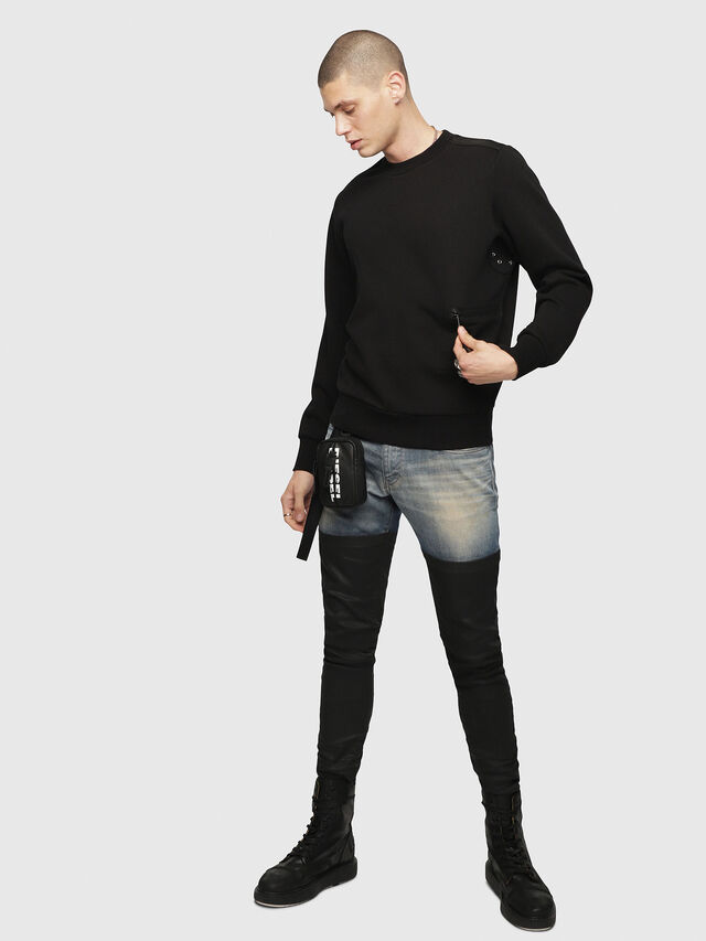 Diesel - S-CROMEXX, Black - T-Shirts - Image 4