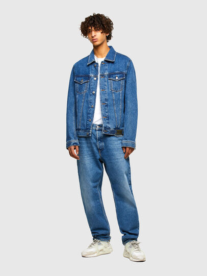 Diesel - NHILL-C1, Medium blue - Denim Jackets - Image 7
