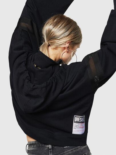 Diesel - F-AVAL, Black - Sweaters - Image 4