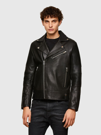 Diesel - L-STARKVILLE, Black - Leather jackets - Image 1