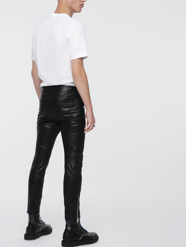 Diesel P-MONTE-L, Black Leather - Pants - Image 2