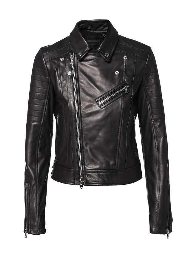 Diesel - LINEW, Black - Leather jackets - Image 5