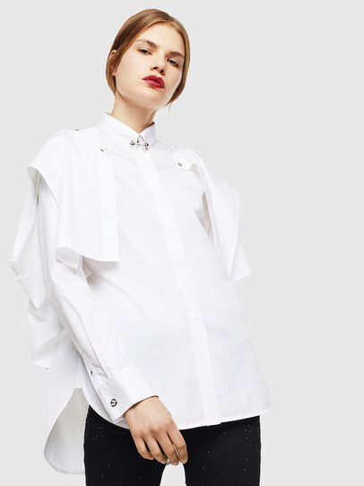 Diesel - C-RAILY-SHAPED, White - Shirts - Image 1