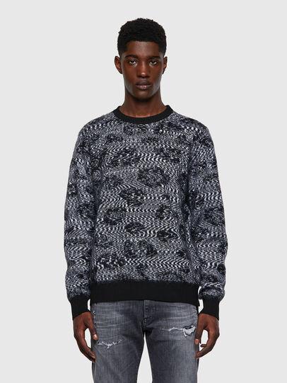 Diesel - K-AZOTIC, Black/Grey - Knitwear - Image 1