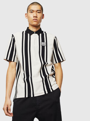 T-POLO-STRIP, White/Black - Polos