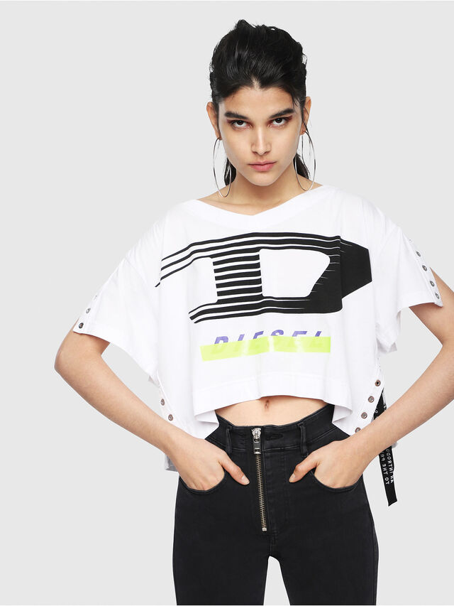 Diesel - T-ELISON-A, White - Tops - Image 1