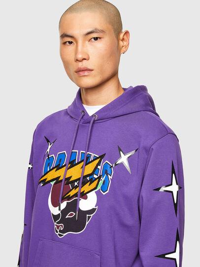 Diesel - CL-S-GIRK-HOOD-O1, Violet - Sweaters - Image 5