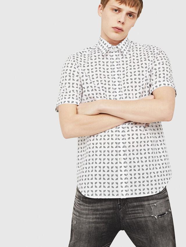 bb5bb5a34 S-AKURA-SHORT Men  Short-sleeve shirt in cotton poplin