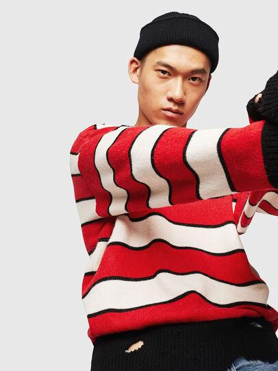 Diesel - K-LOVERY, Red/White - Knitwear - Image 5