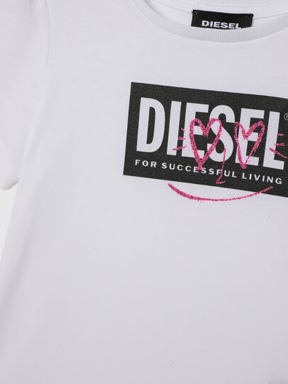 Diesel - TRIDGEB-R, White - T-shirts and Tops - Image 3