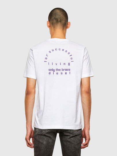 Diesel - T-JUST-N44, White - T-Shirts - Image 2