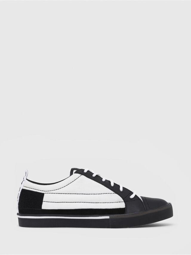 Diesel - D-VELOWS LOW PATCH, Black/White - Sneakers - Image 1