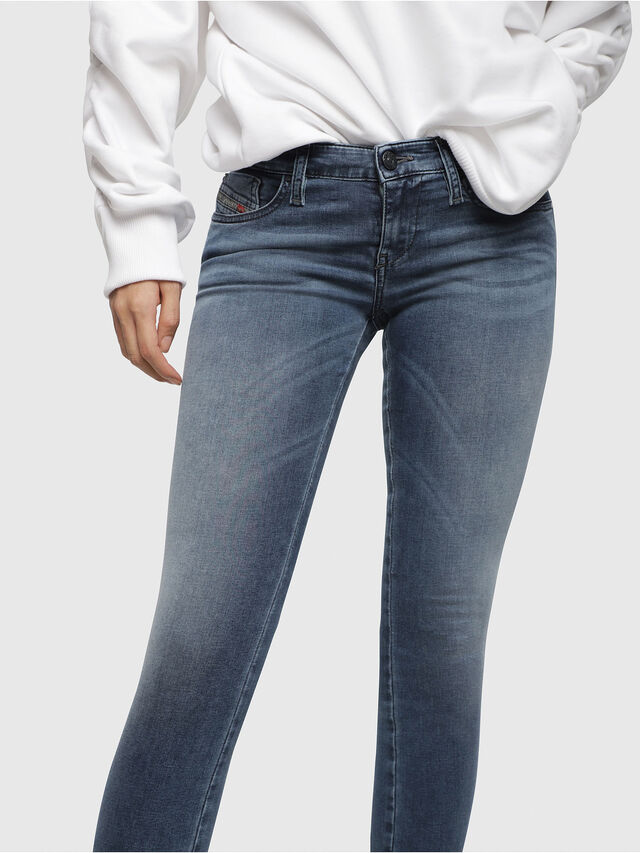 Diesel - Skinzee Low Zip 0681P, Medium blue - Jeans - Image 3