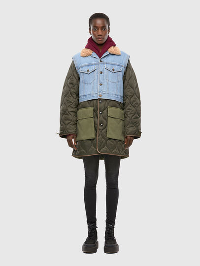 Diesel - W-SHAYL, Military Green - Winter Jackets - Image 1