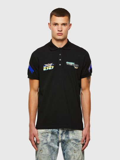 Diesel - ASTARS-T-NIGHT-NEW-B, Black - Polos - Image 1